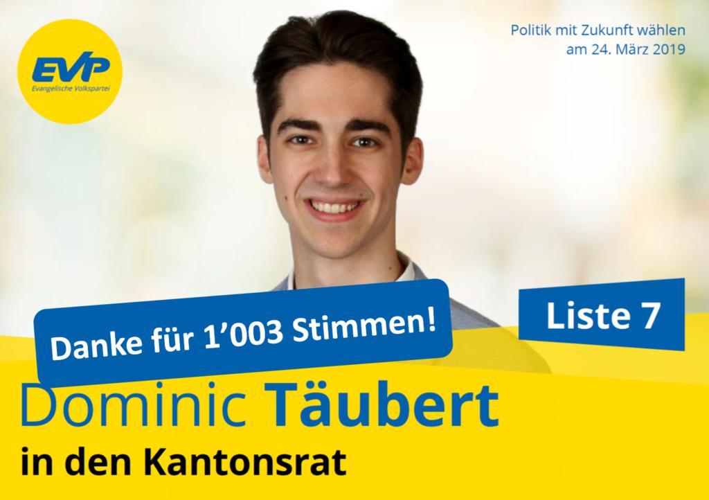 Kantonsratskandidat 2019