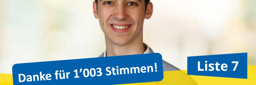 KR-Wahlen 2019 – Danke für 1'003 Stimmen!